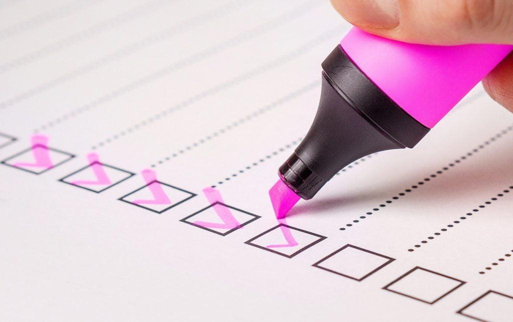 pre-employment checks-tick boxes
